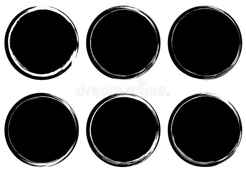 Inzameling van Grunge de cirkelzegels banners insignia Etiketten en royalty-vrije illustratie