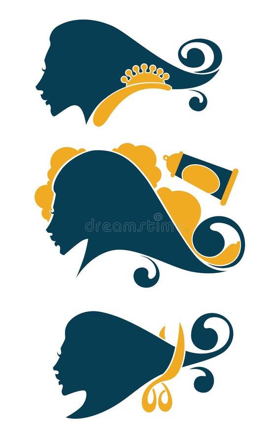 inzameling van het symbool van de vrouwenschoonheid royalty-vrije illustratie