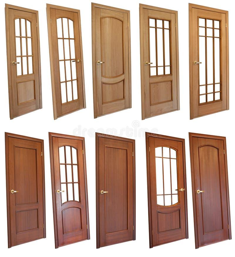 Inzameling van houten deuren stock fotografie