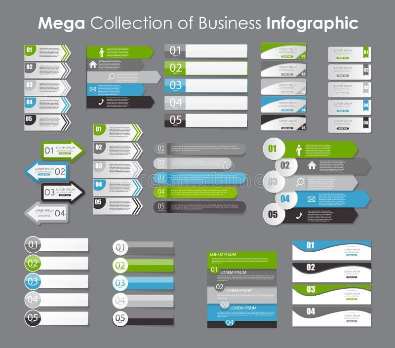 Inzameling van Infographic-Malplaatjes voor Zaken stock illustratie