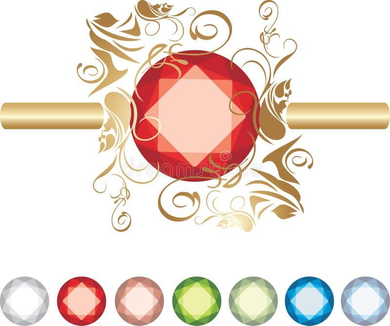 Inzameling van juwelen vector illustratie