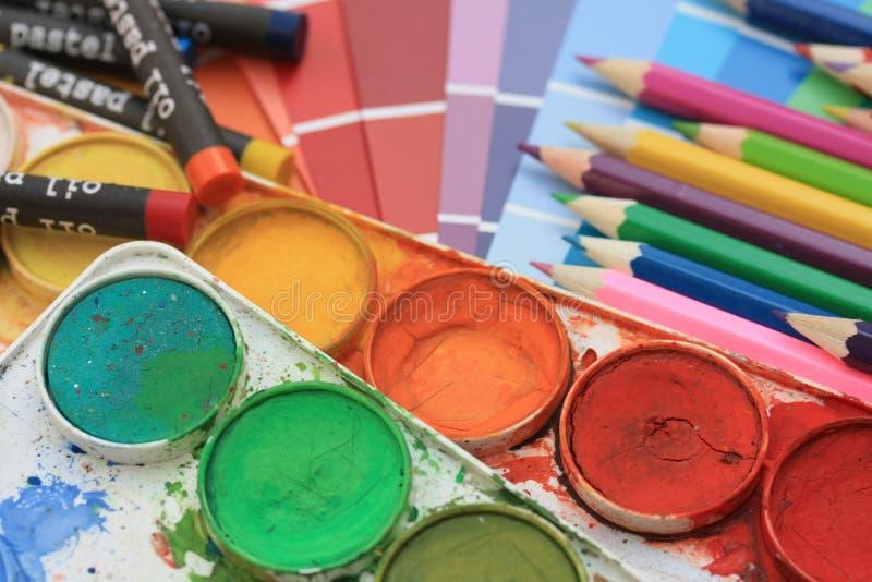 Inzameling van kleurensteekproeven stock foto's