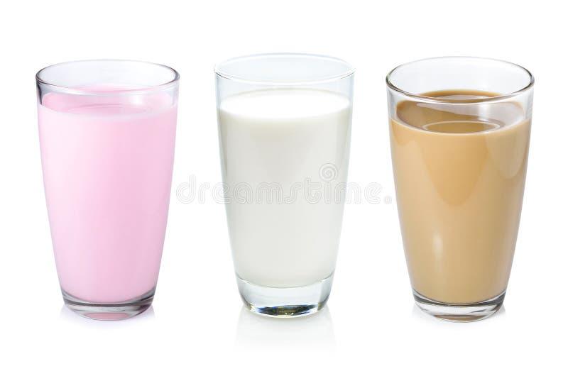 Inzameling van melk stock afbeeldingen