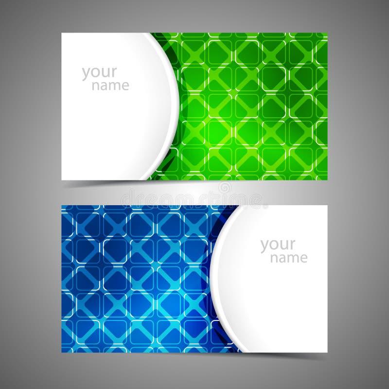 Inzameling van moderne adreskaartjemalplaatjes vector illustratie