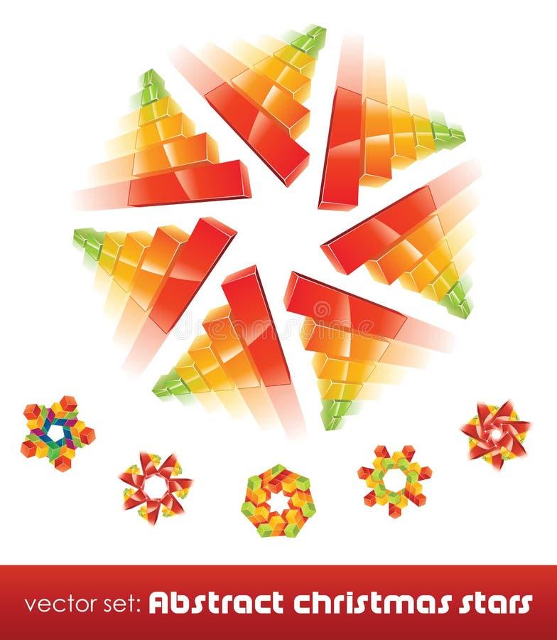 Inzameling van onmogelijke Kerstmissneeuwvlokken. stock illustratie