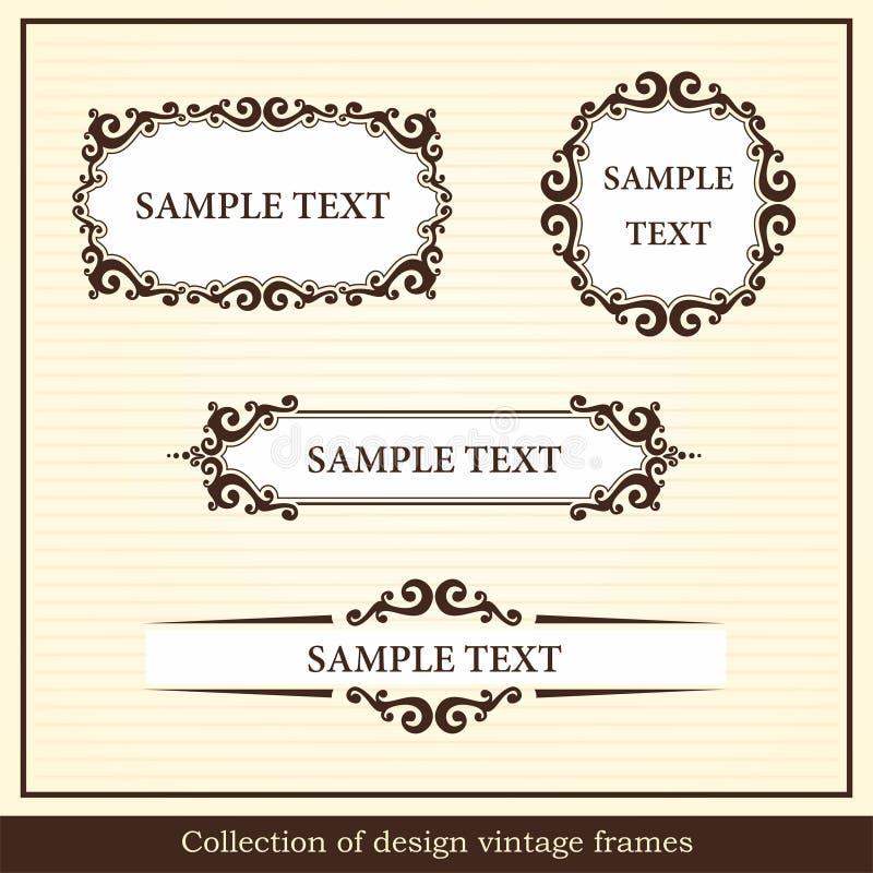 Inzameling van ontwerp uitstekende frames vector illustratie