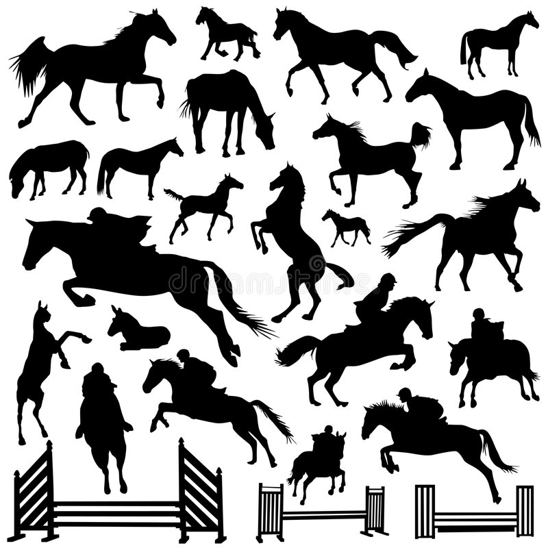 Inzameling van paardvector royalty-vrije illustratie