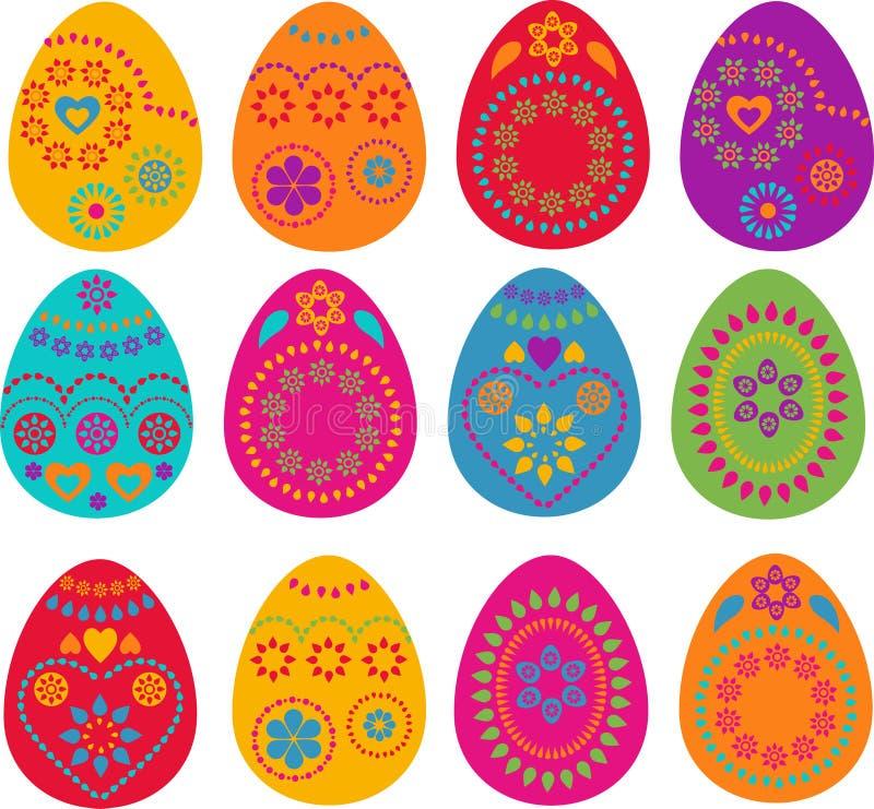 Inzameling van Pasen geschilderde eieren