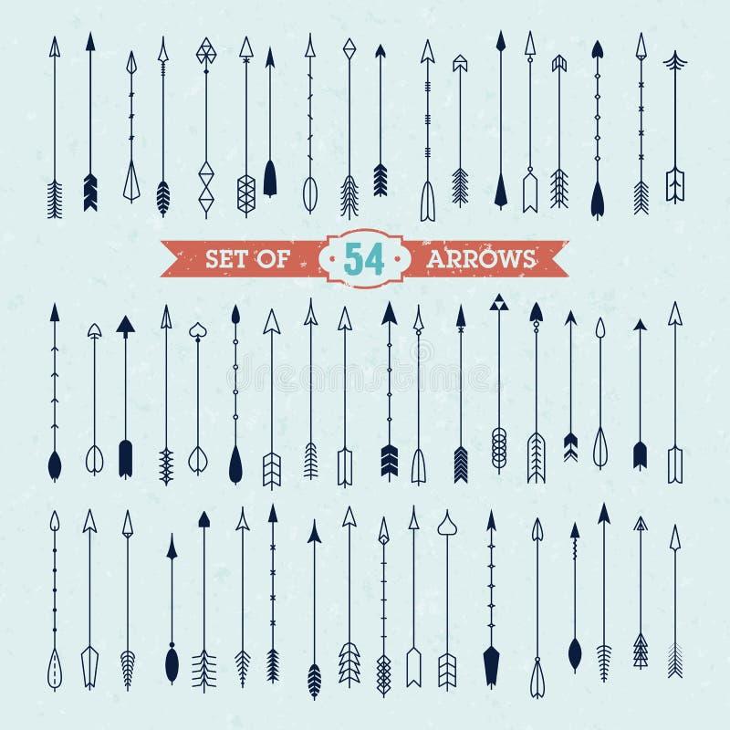 Inzameling van pijlen stock illustratie
