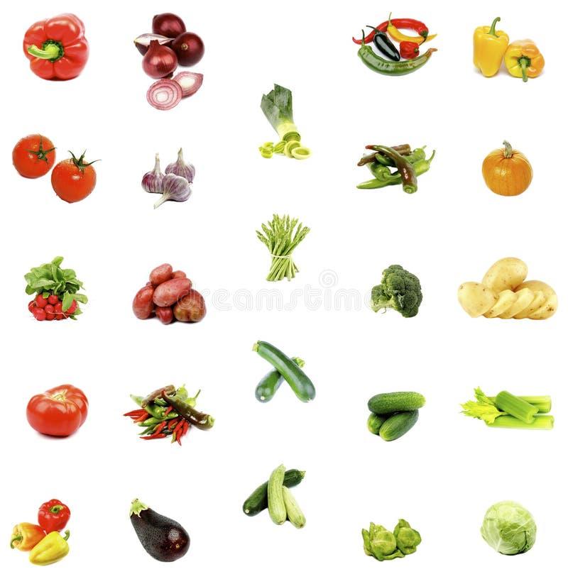 Inzameling van Rauwe groenten stock foto's