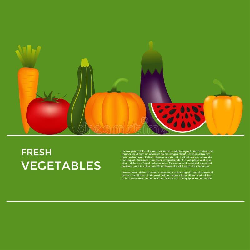Inzameling van realistische gezonde groenten zoals: wortel, tom vector illustratie