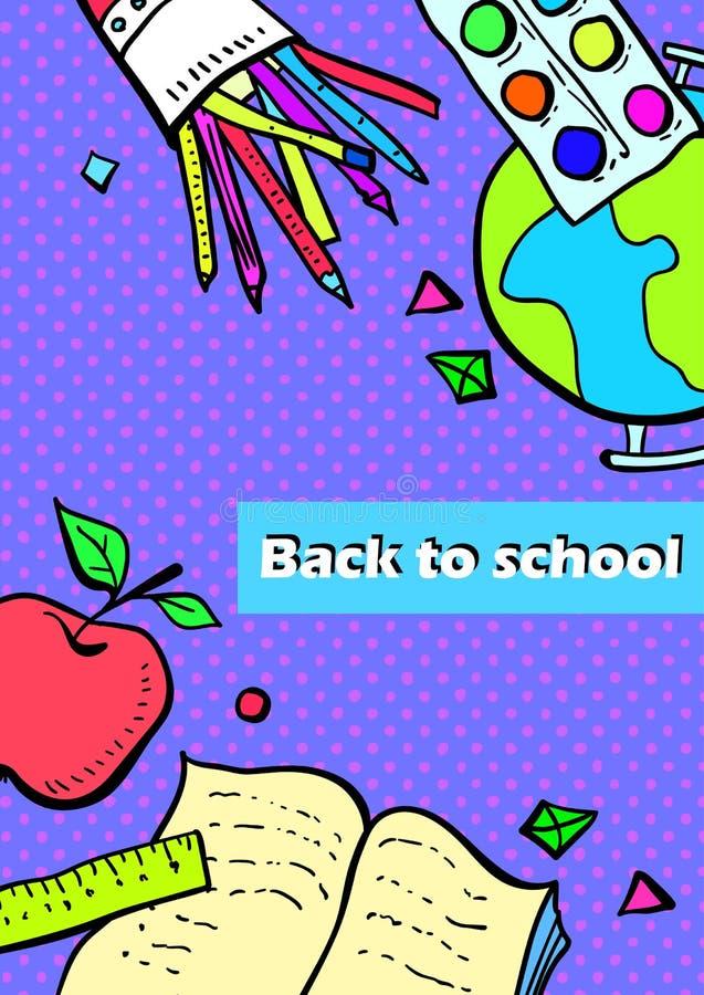 Inzameling van schoolonderwerpen stock foto's