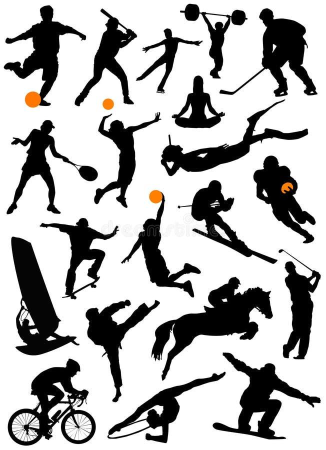 Inzameling van sportvector royalty-vrije illustratie