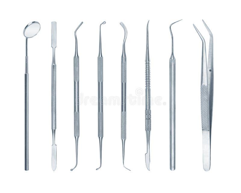 Inzameling van tandhulpmiddelen stock foto