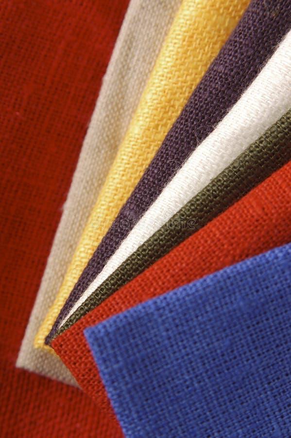Inzameling van Textiel royalty-vrije stock afbeeldingen