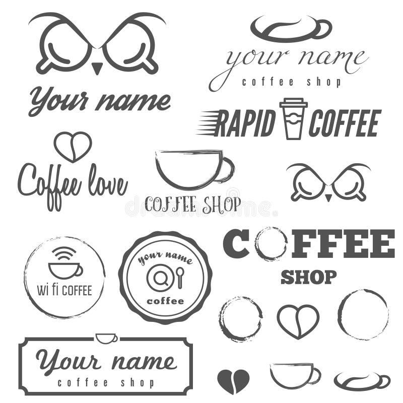 Inzameling van uitstekende embleem en logotype elementen vector illustratie