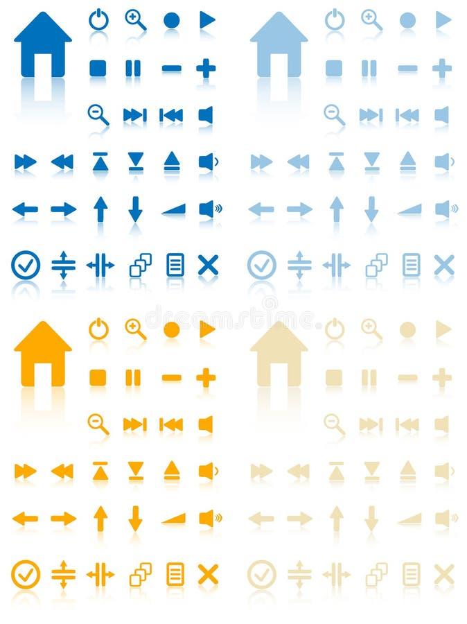 Inzameling van vectorknopen. stock illustratie