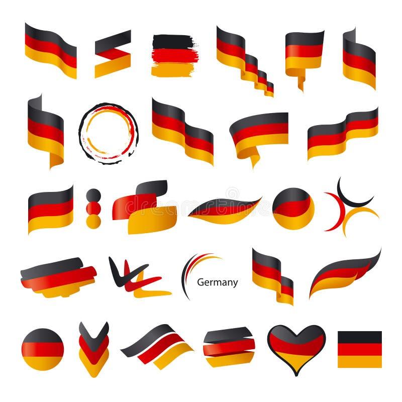 Inzameling van vectorvlag van Duitsland royalty-vrije illustratie