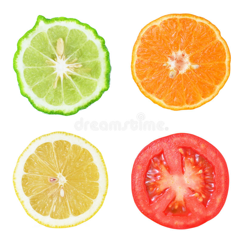 Inzameling van vers fruit en groente royalty-vrije stock fotografie