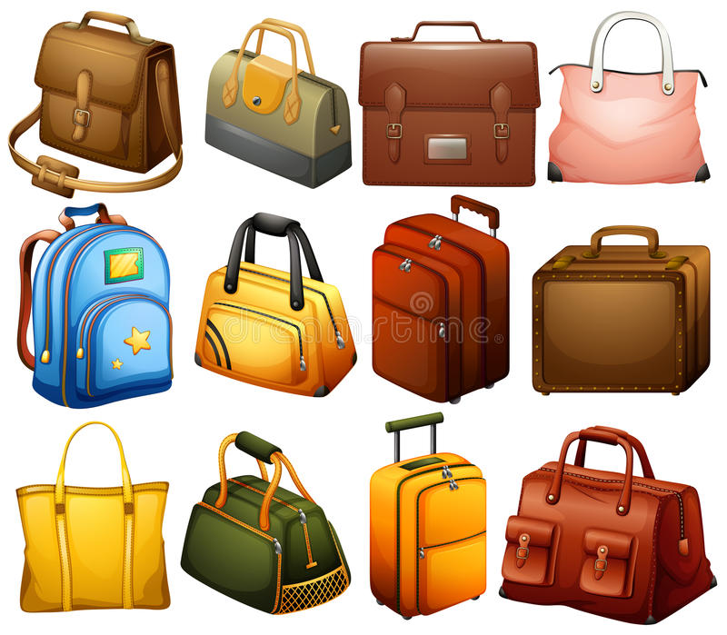 Inzameling van verschillende zakken stock illustratie