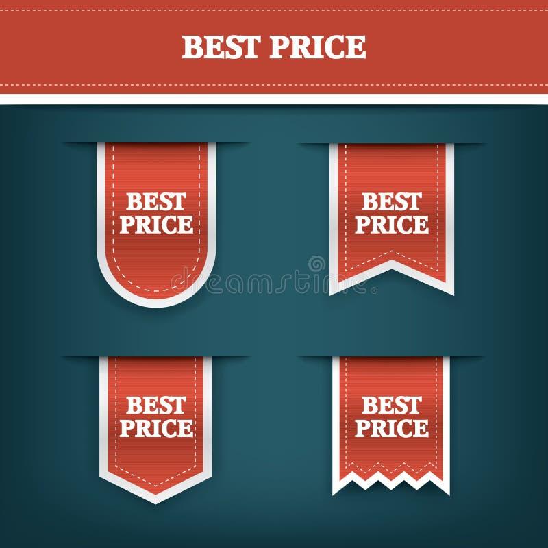 Inzameling van verticale vector de markeringspictogrammen van het verkooplint voor product bevordering en het winkelen Referentie stock illustratie