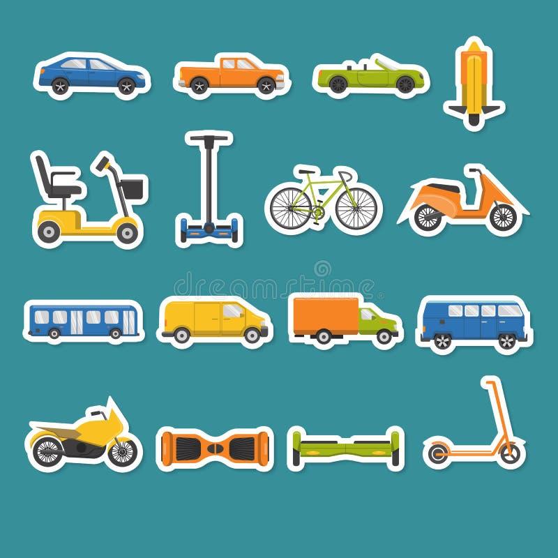 Inzameling van vervoerpictogrammen vector illustratie