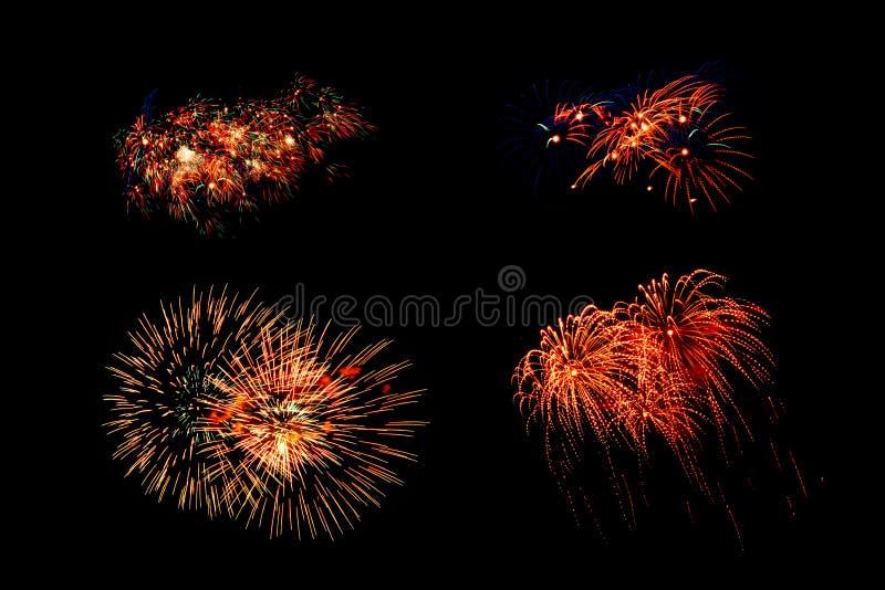 Inzameling van vuurwerk stock foto