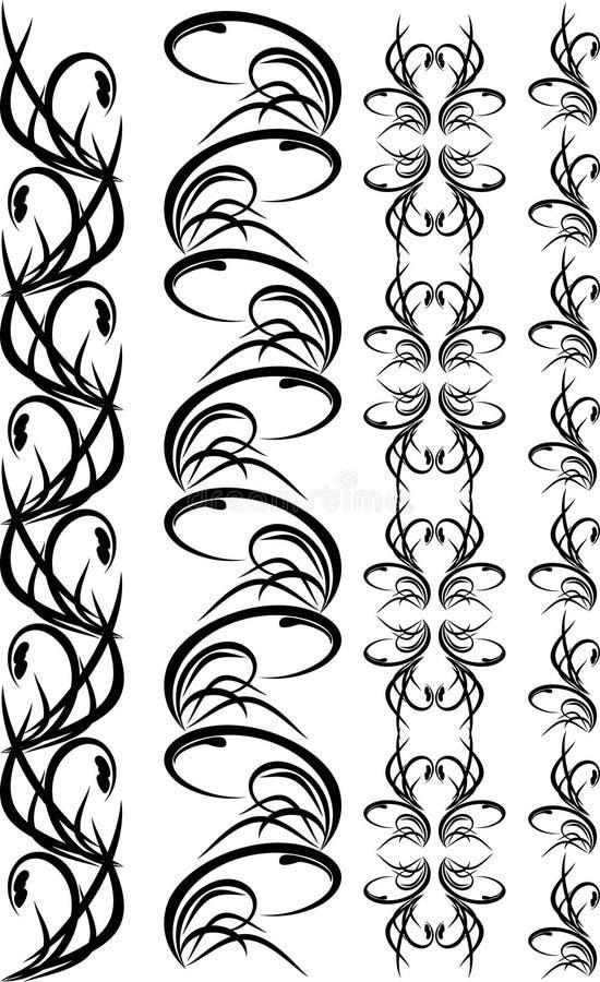 Inzameling van zwarte ornamenten voor frame vector illustratie