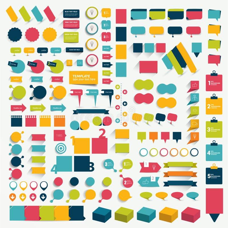 Inzamelingen van elementen van het infographics de vlakke ontwerp stock afbeeldingen