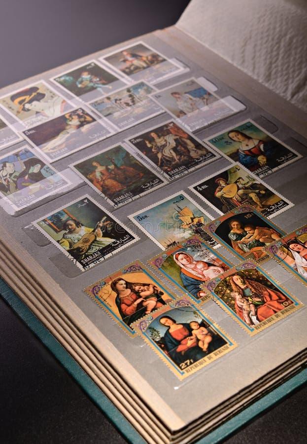 Inzamelingen van filatelist stock foto's