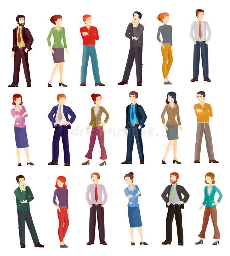 Inzamelings vectorillustraties van bedrijfsmensen vector illustratie