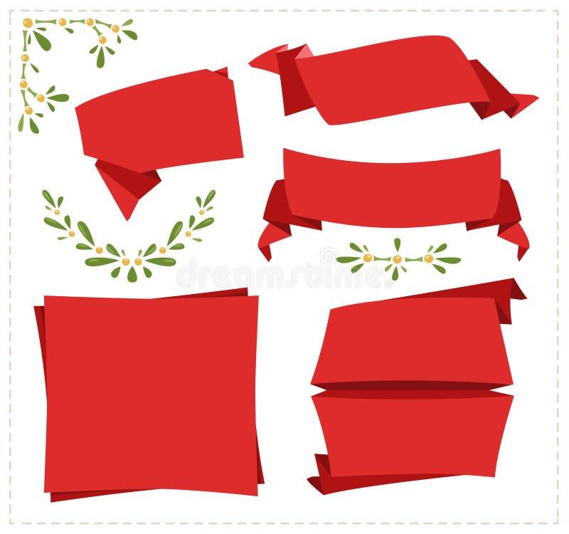 Inzamelingsdocument origamibanner vector illustratie