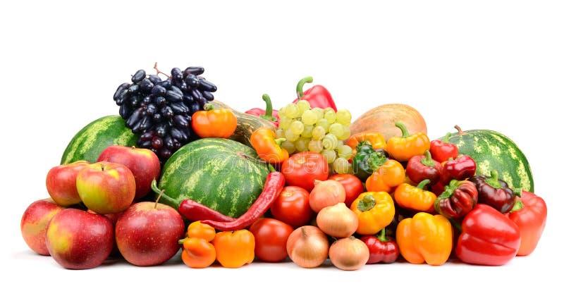Inzamelingsfruit en groenten royalty-vrije stock afbeelding