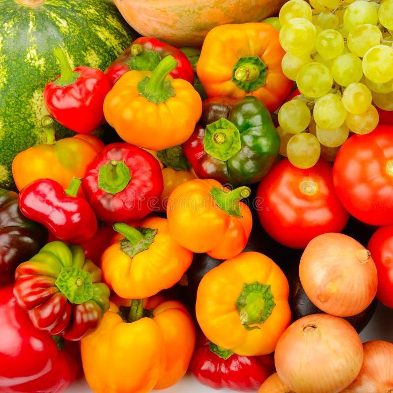 Inzamelingsfruit en groenten royalty-vrije stock foto's