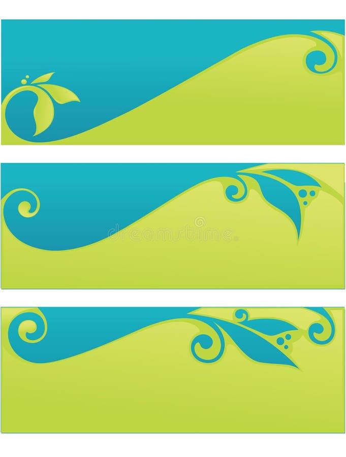 Inzamelingskopballen en banners vector illustratie