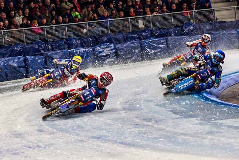 Inzell, Alemania - 16 de marzo de 2019: Campeonato del carretera del hielo del mundo fotografía de archivo