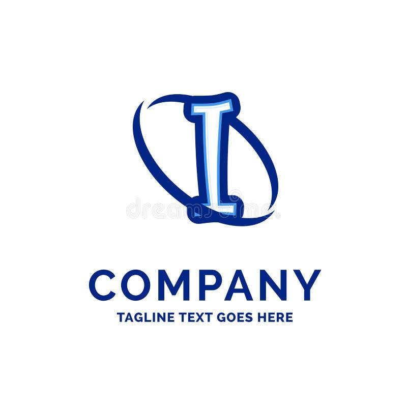 Io progettazione Logo Design blu di nome di società royalty illustrazione gratis