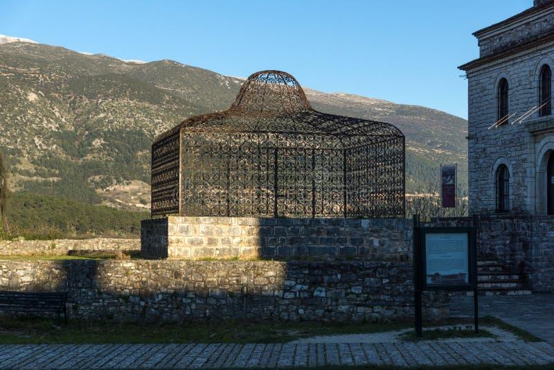 Tomb of Ali Pasha near Fethiye Mosque in castle of city of Ioannina, Epirus, Greece. IOANNINA, GREECE - DECEMBER 27, 2014: Tomb of Ali Pasha near Fethiye Mosque stock images