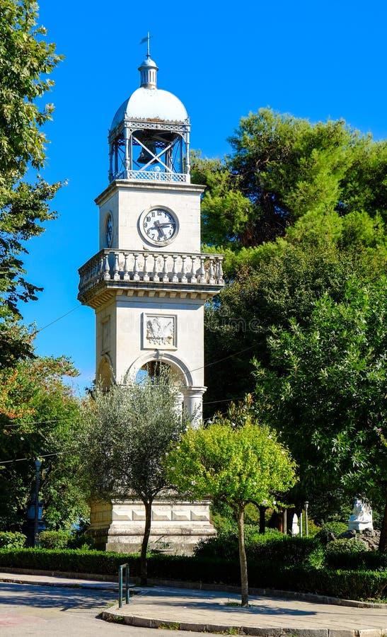 Ioannina stary zegarowy wierza, miasto symbol Epirus region, Grecja zdjęcie stock