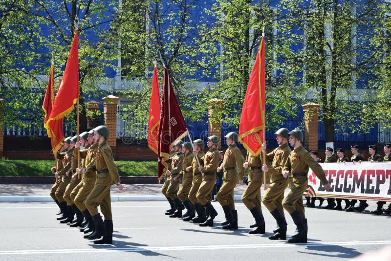 Iochkar-Ola, Russie - 9 mai 2016 Victory Parade photo libre de droits