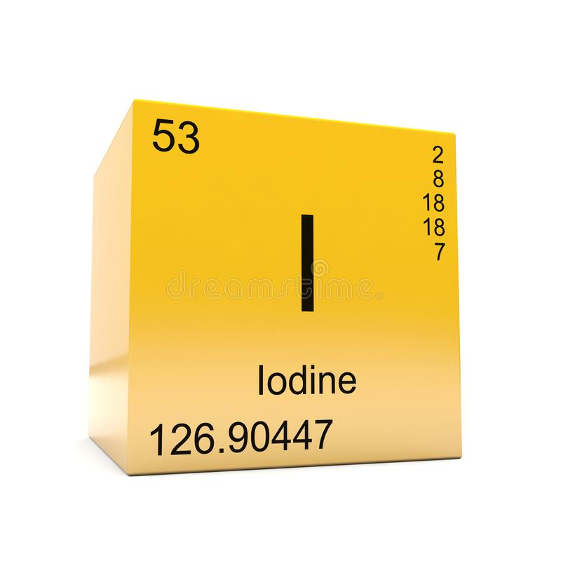 Iodine chemical element symbol from periodic table stock download iodine chemical element symbol from periodic table stock illustration illustration of science glossy urtaz Choice Image