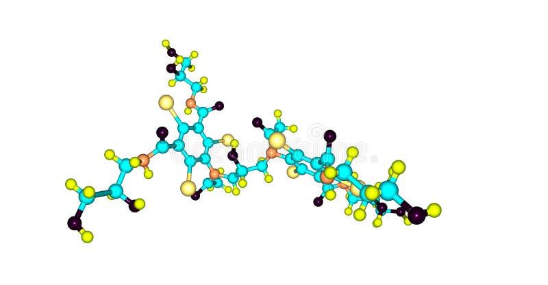 Iodixanol-Molek?lstruktur lokalisiert auf Wei? vektor abbildung