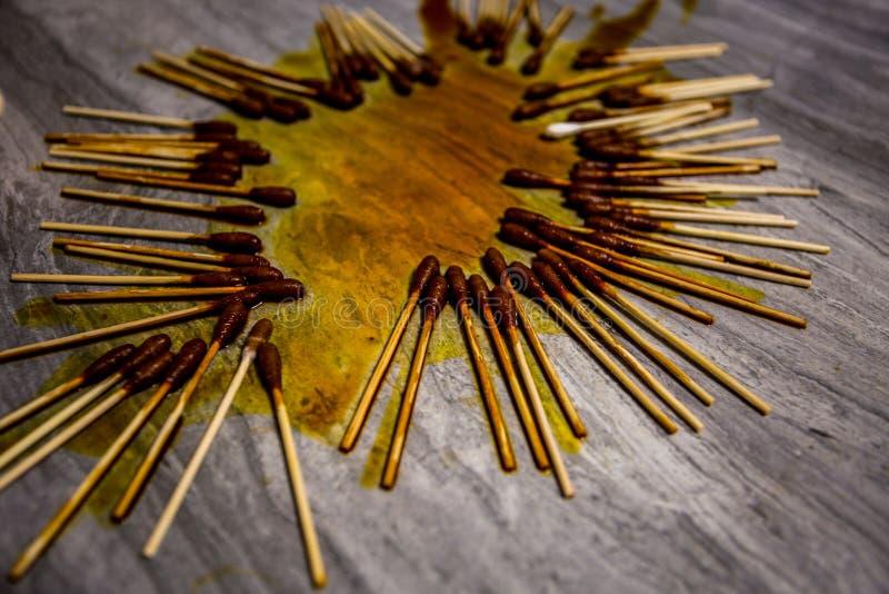Iodophor Bawełnianego mopu pączek fotografia stock