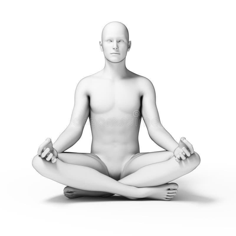 ioga ilustração do vetor