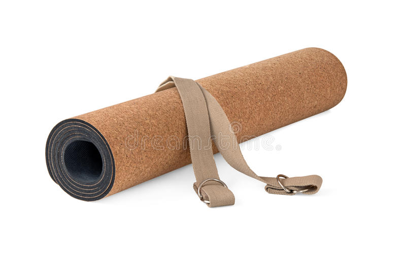 Ioga Cork Mat Eco Friendly Set fotografia de stock