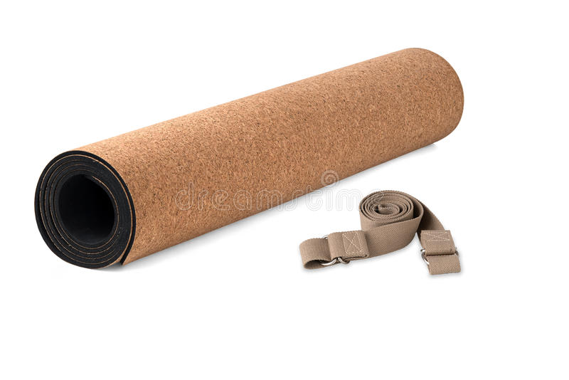 Ioga Cork Mat Set Eco Friendly Eco amigável foto de stock