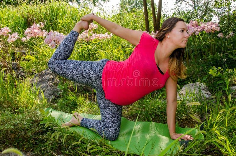 Ioga de maternidade fotografia de stock