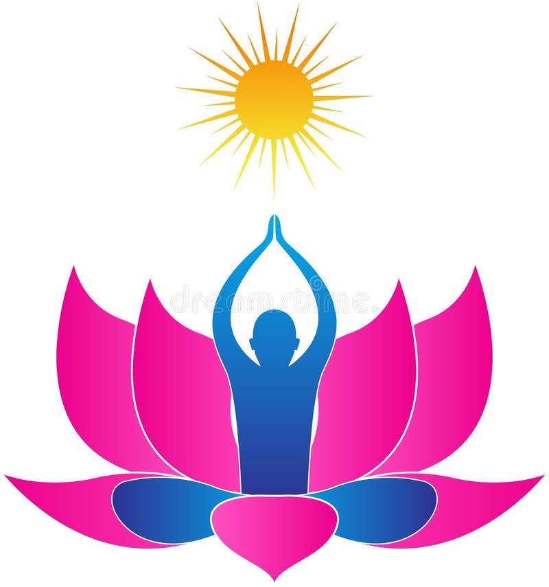 Ioga do zen ilustração royalty free