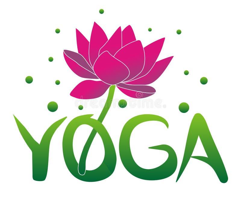 Ioga e flor de lótus Filosofia do Hinduísmo ilustração do vetor