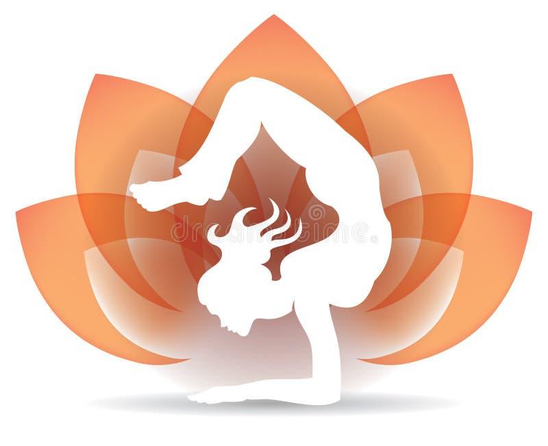 Ioga Lotus Logo ilustração stock